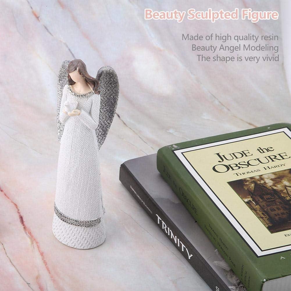 20cm Figur Engel Harz Wei/ße Sch/önheit Sculpted Figur Tabelle Ornamente Handgemalte Engel Figur Top Collection Betet f/ür Frieden Engel Figur Statue Anjali