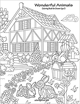 Amazon Com Wonderful Animals Coloring Book For Grown Ups 3 Volume