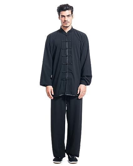Amazon.com   ICNBUYS Men s Kung Fu Tai Chi Uniform Cotton Silk ... 41fa48ac4