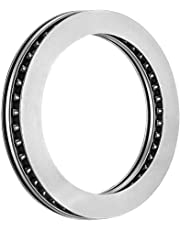 uxcell® AXK80105+2AS Needle Roller Thrust Bearings with Bearing Washers, 80mm Bore Diameter, 105mm OD, 6mm Total Thickness