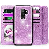 Galaxy S9 Plus Wallet Case, Miss Arts Detachable Magnetic Slim Case with Car Mount Holder, 9 Card/Cash Slots, Magnet Clip, Wrist Strap, PU Leather Cover for Samsung Galaxy S9 Plus -Purple