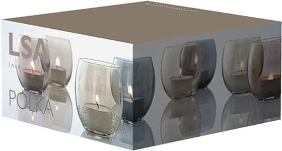 Handmade glass tealight Holder - set of 4pcs
