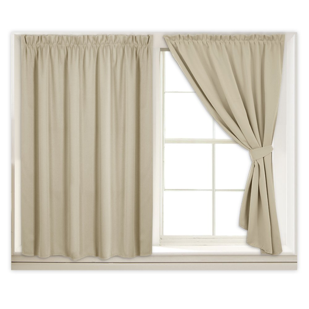Amazoncom Self Sticky Room Darkening Curtain Panels For Small