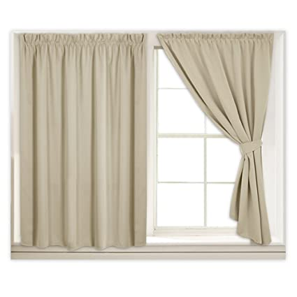 Superbe RYB HOME Blackout Window Shades For Back Door Curtains Noise Reducing Cost  Saving Drapes Without Rod