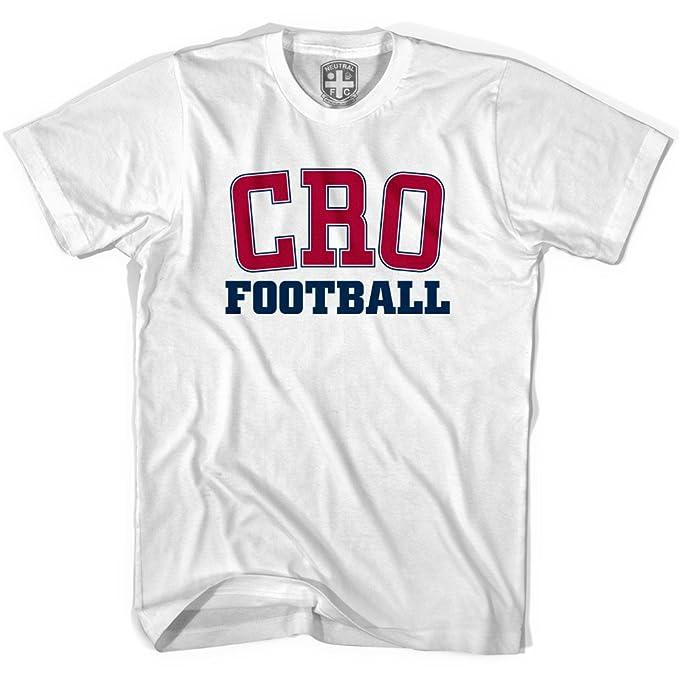 Croacia Cro camiseta de fútbol blanco blanco small