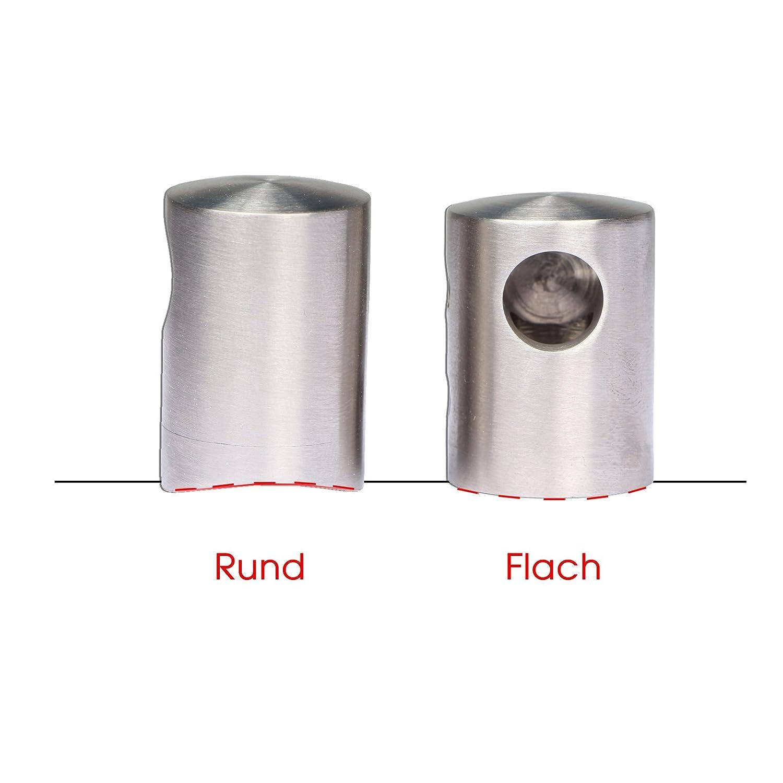 flach- PRIOstahl/® QUERSTABHALTER EDELSTAHL STABHALTER /Ø10 10 St/ück