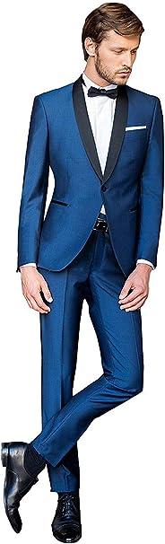 Amazon.com: 2 piezas azul marino para hombre trajes para ...