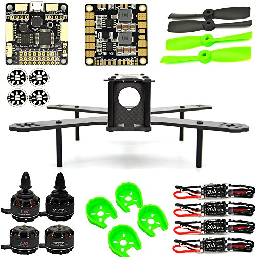 LHI H210 Pure Carbon Fiber FPV Race Copter Frame Kit ARF+F3 Flight Controller Standard 6DOF+ MT2206Ⅱ 1900KV Brushless Motor+Favourite Little Bee 20A OPTO ESC+Gemfan 4050 Props