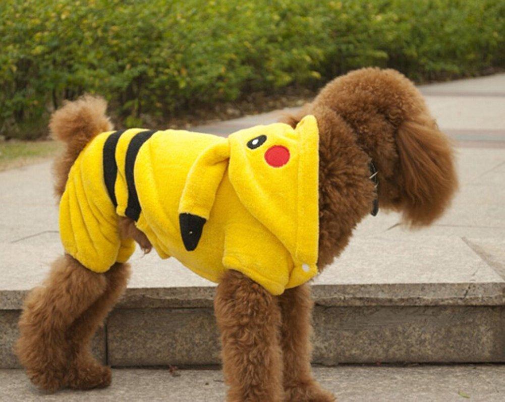 & Amazon.com : Dog Clothes Pikachu Jumpsuit 5 Sizes (S) : Pet Supplies