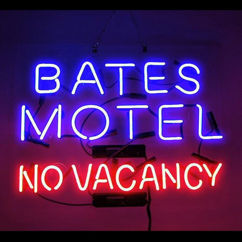 Bates Motel No Vacancy Real Glass Neon Light Sign 19x15