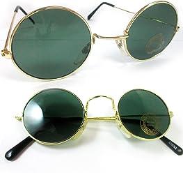 4524d45432 John Lennon Sunglasses Round Shades Wire Frame Colored Lenses Metal Retro  Hippie