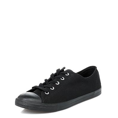 c47751c424d06f Converse Women s Chuck Taylor Dainty Low Top Sneaker Black Monochrome 7 ...