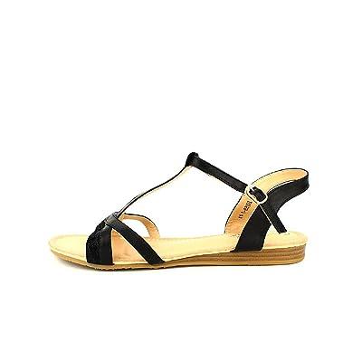 Cendriyon Sandale Noire CINK ME Simili Cuir Chaussures Femme