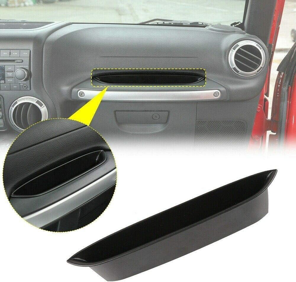 Black HOB4U Grab Tray Passenger Storage Tray Organizer Grab Handle Storage Box for 2011-2018 Jeep Wrangler JK JKU