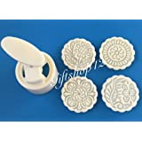 Giftshop12 100g Round White Moon Cake Molds Cookie Cutter/Molds