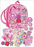 : Pecoware Girls Backpack Stickers and Stamps Set - All Girls or kids will love this! STICKER KITS
