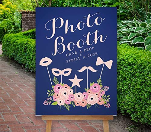Dozili Photo Booth Sign Wedding Photo Booth Props Wedding Photo Booth Sign Blush Pink Boho Floral Sign The St Helena Collection ()