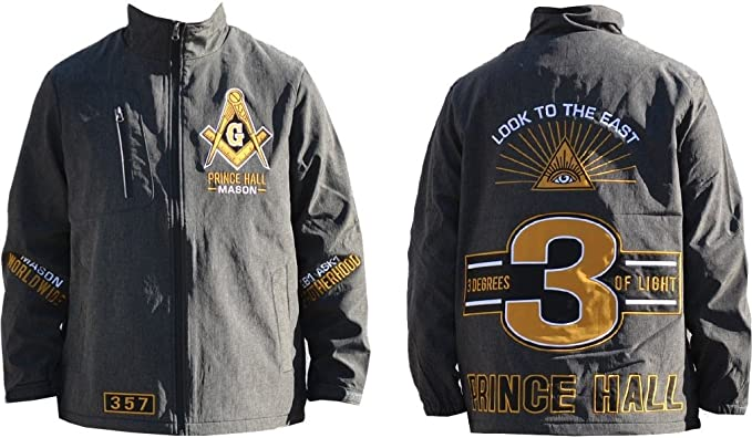 131372f47249 Big Boy Prince Hall Mason Divine S4 Mens Windbreaker Jacket  Charcoal Grey  - M