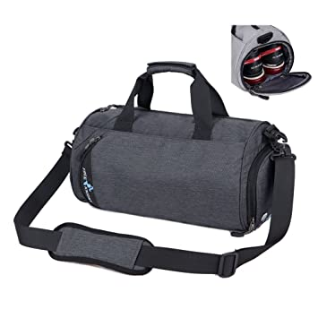 Asiki Waterproof Nylon Gym Bag Round Sports Duffel Bag with Shoe  Compartment Travel Sports Bag ( f3cb0cac79b80