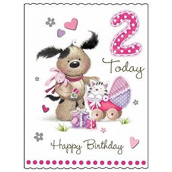 Happy birthday 2 today girl card amazon office products happy birthday 2 today girl card bookmarktalkfo Gallery
