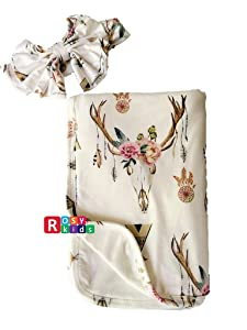 Rosy Kids Ultra Soft Breathable Double Layer Baby Receiving Blanket, Swaddle Blanket for Baby Girl and Baby Boy, Color21JY02