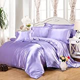 Violet Silk Bedding Luxury Bedding Silk Duvet Cover Set Silk Duvet Cover Silk Pillowcase, Twin Bedding