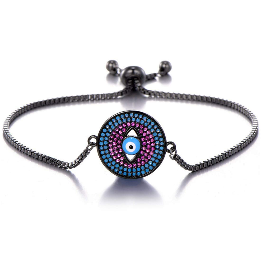 Mrsrui Clear Crystal Rhinestone Wedding Link Tennis Bracelet Costume Jewelry Lady Valentines Gift (B) by Mrsrui