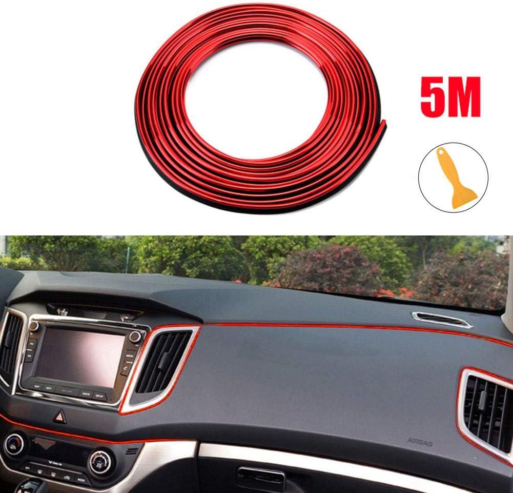 ye623 5M Car Interior Moulding Trim Strip Door Gap Edge Decorative Line Auto Accessorie