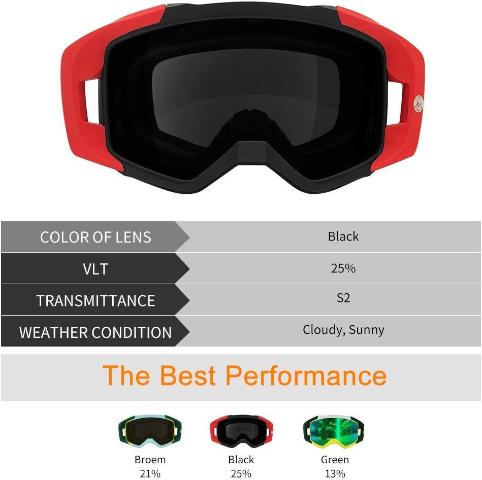 Extra Mile Maschera da Sci,2020 Occhiali da Sci Snowboard Colori sfumati Unici Antivento Anti Fog UV 400 Protezione,per Giovani Uomini e Donne