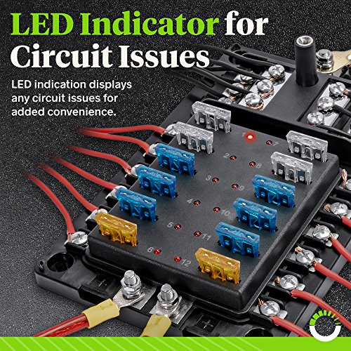 12-circuit blade fuse block w/thumbscrew cover [led indicator] - import it  all