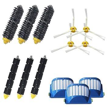 STRIR-Casa Kit Cepillos Repuestos para iRobot Roomba Serie 600 - Kit de 10 Piezas Accesorios(Cepillos Lateral, Filtros,Cepillo Principal y etc.