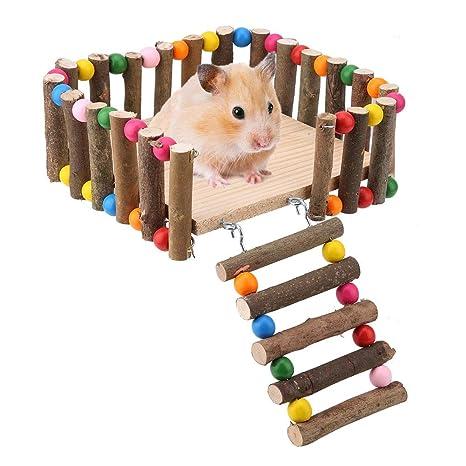 HEEPDD Juego de escaleras de Plataforma para hámsters, Gerbil ...