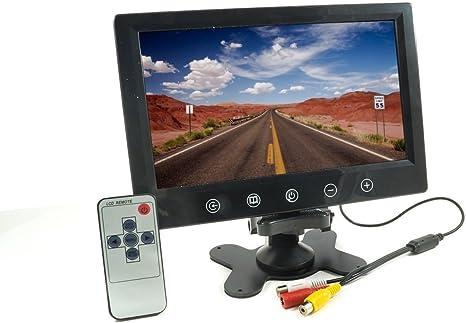 """CAMPER DVR TELECOMANDO O VIDEOSORVEGLIANZA MONITOR LCD 7/"""" 4 INGRESSI AV HD AUTO"""