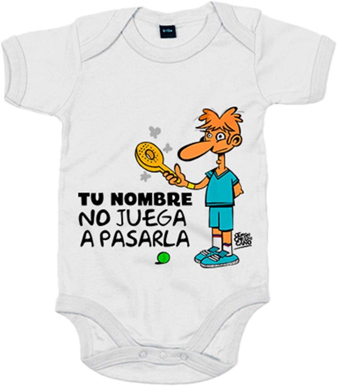 Body bebé Padel yo no juego a pasarla personalizable con nombre ...