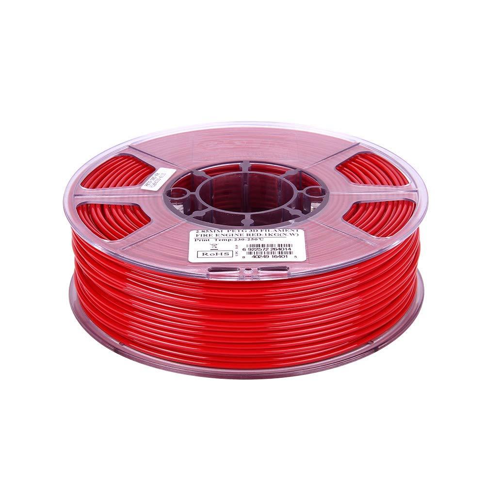 eSUN 3D 2.85mm PETG Fire Engine Red Filament 1kg 2.85mm Solid Opaque Fire Engine Red PETG 3D Printer Filament 2.2lb
