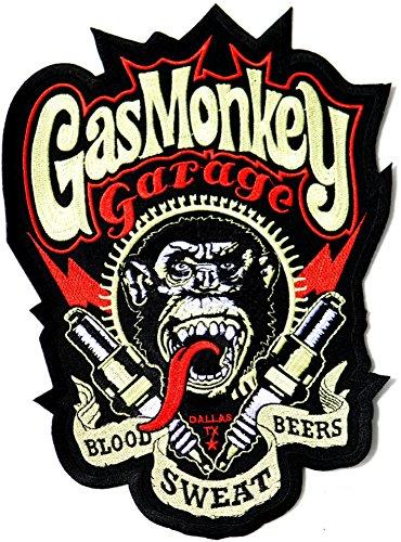 T-Shirt Gas Monkey Lightning Bolts da Uomo in Blu