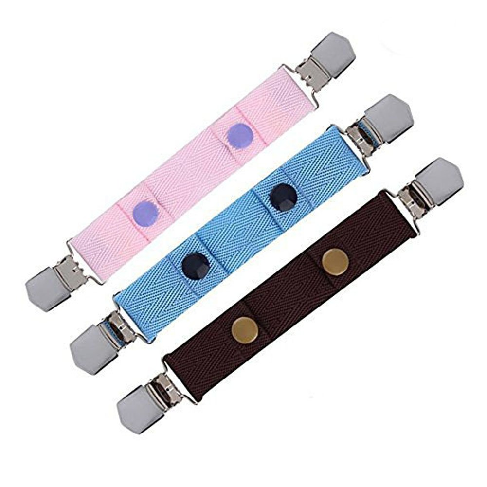 SwirlColor Jeans Pants Adjustable Durable Snap Belt Elasticated Buckle Clip Belt for Kids - Random Color