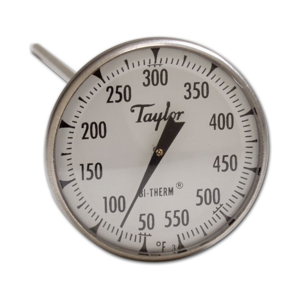 Taylor 6220J Bi-Therm Superior Grade Bi Metal Thermometer, 8'' Stem, 2'' Dial, 0 to 550 Degree F by Taylor Precision Products (Image #1)