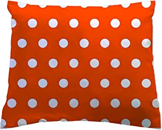 product image for SheetWorld - Toddler Pillowcase Hypoallergenic Made in USA - Polka Dots Orange 13 x 17