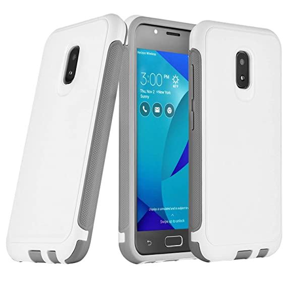 new concept 312b6 fa143 Asus Zenfone V Live Case Rugged Heavy Duty Dual Layer White A009 V500KL  (IKON CASE)