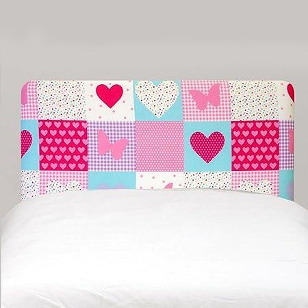 Patchwork Hearts Butterflies Pink Girls Childrens Single Bed Divan