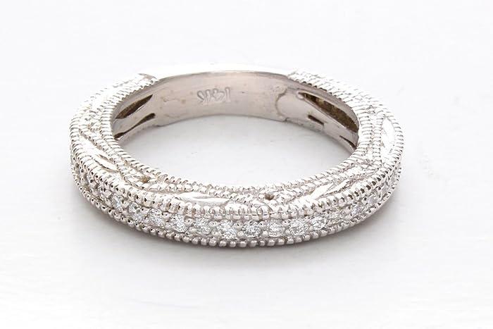 Filigree Wedding Band.Amazon Com Diamond Filigree Wedding Ring Filigree Wedding Band
