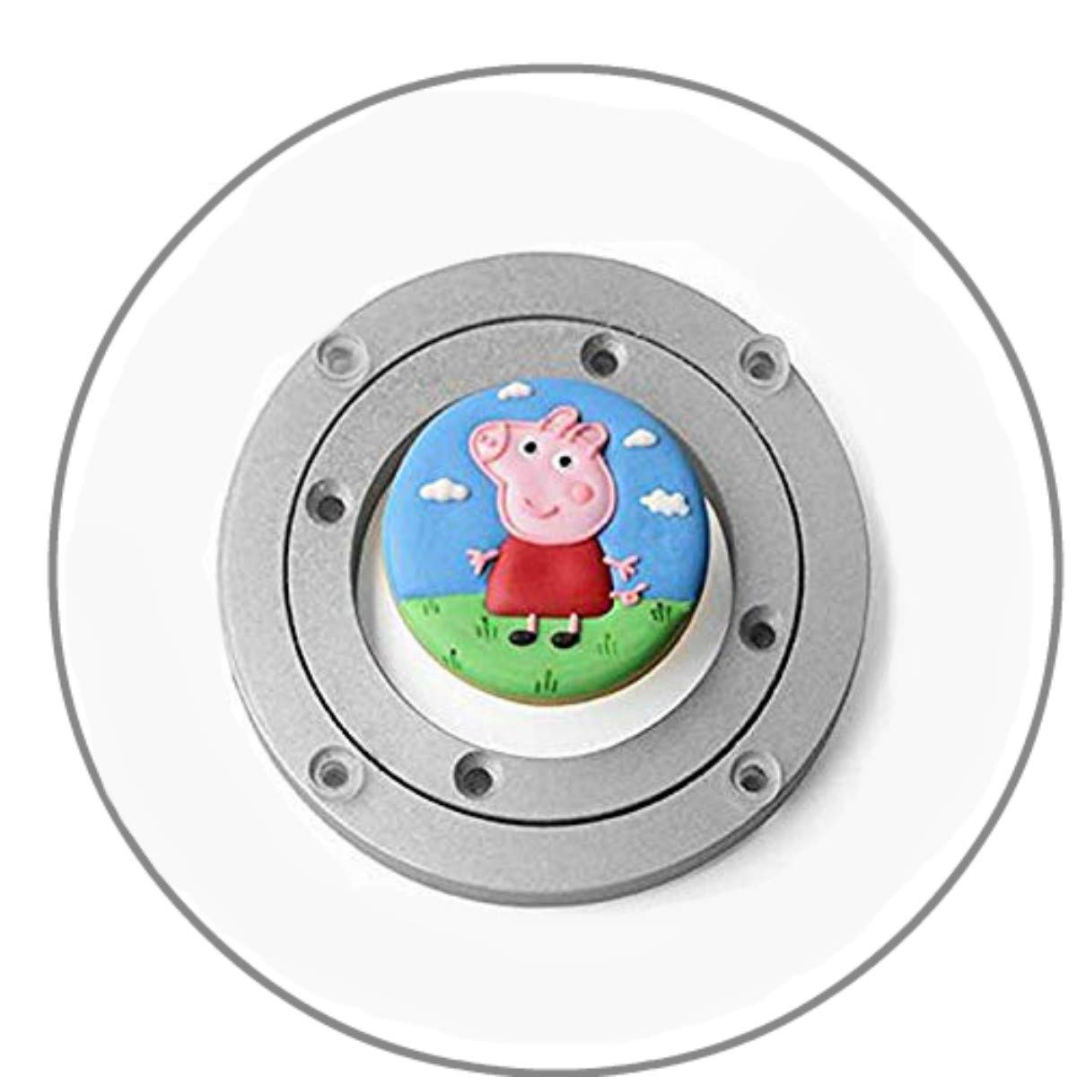 Cupcake Decorating Turntable QBOSO Acrylic Swivel Lazy Susan for Cookie Making (Round)