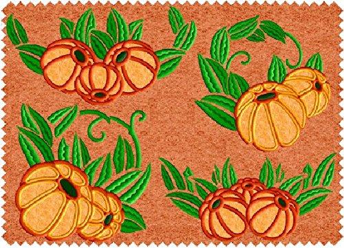 ABC Machine Embroidery Designs Set - Pumpkin Treasures Applique - 8 Designs, 5