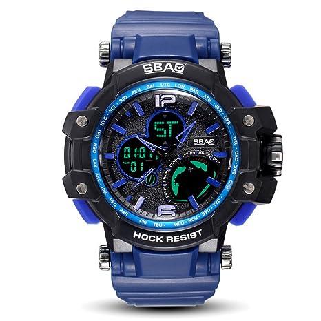 WENY Reloj Deportivo Digital para Hombre con Pantalla LED Impermeable, Casual, Luminoso, cronómetro