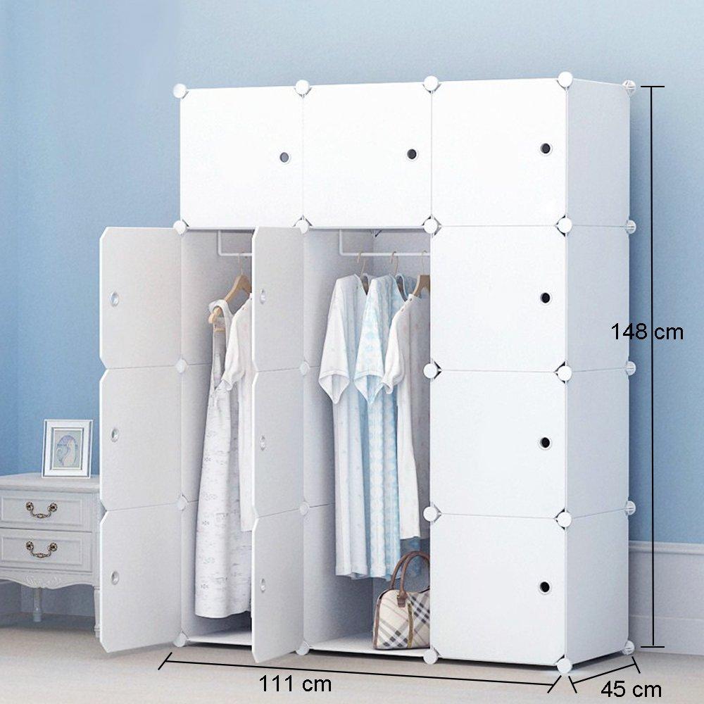 Premag Portable Wardrobe For Hanging Clothes Combination