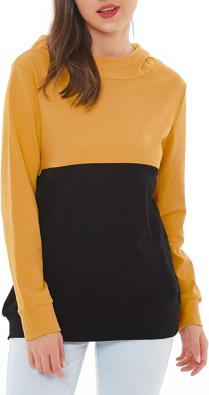 Smallshow Women S Patchwork Nursing Hoodie Tops Breastfeeding Zipper Sweatshirts At Amazon Women S Clothing Store