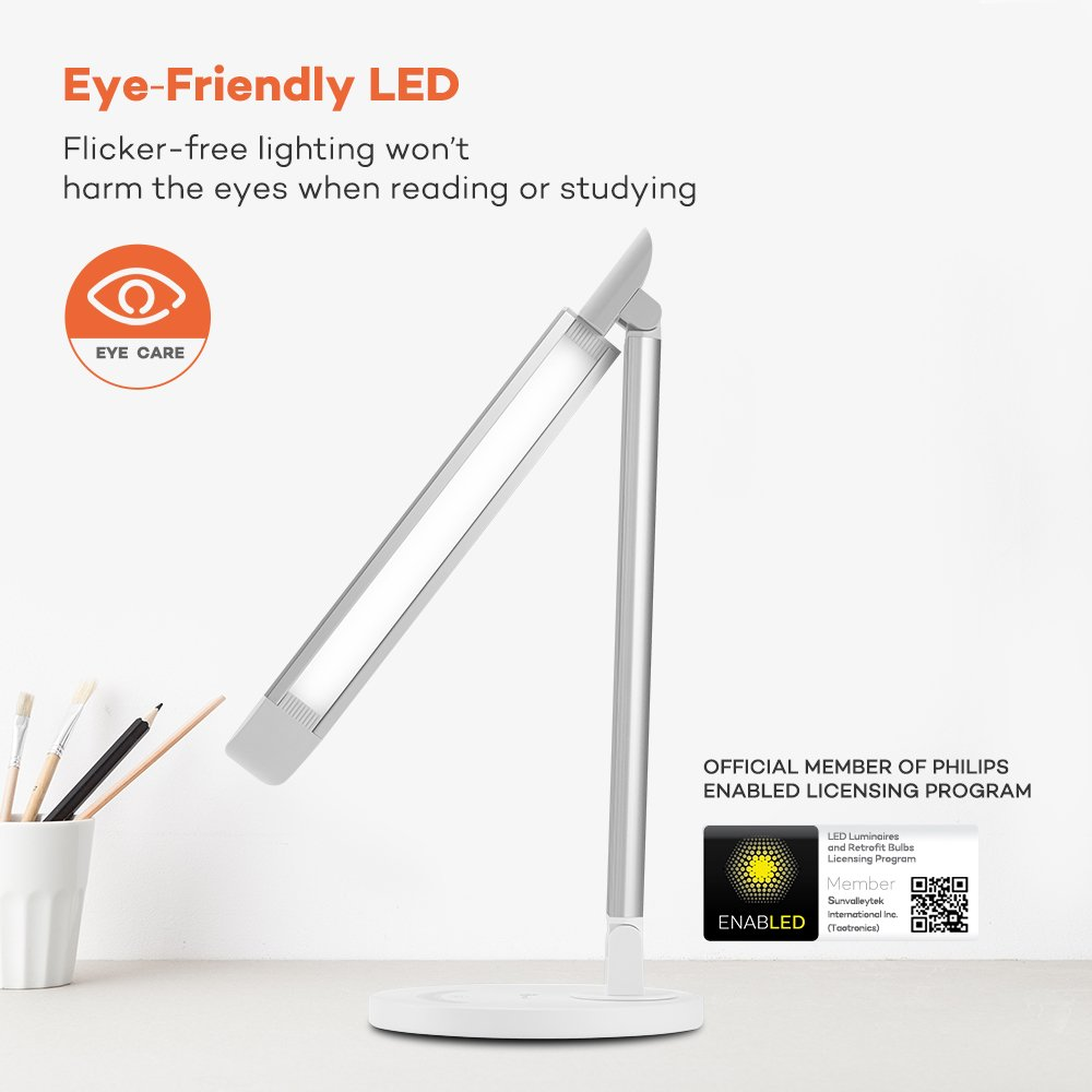 ... Office Lamp With USB Charging Port, Touch Control, 5 Color Modes,  White, 12W, Official Member Of Philips EnabLED Licensing Program: Home U0026  Kitchen
