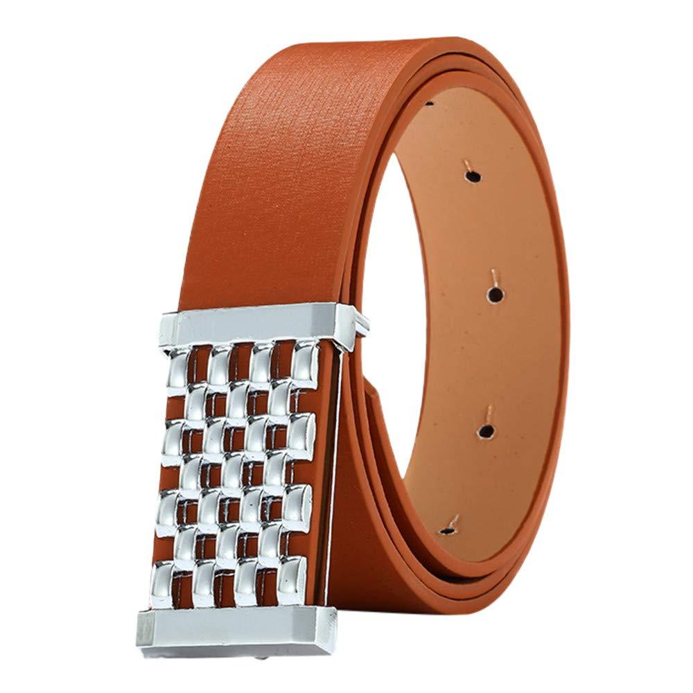 Unisex Women Solid Belt Casual Leisure Wide Leather Belt Valentines Day Gift for Boyfriend YOcheerful Men Belt