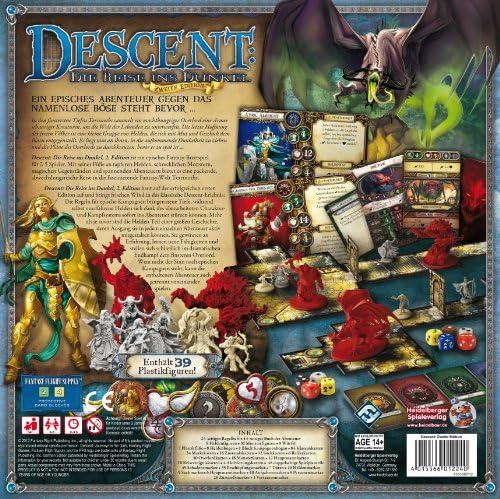 Heidelberger Spieleverlag HEI0600 - Descent: Die Reise ins Dunkel, Juego de Mesa (2ª edición) [Importado de Alemania]: Amazon.es: Juguetes y juegos